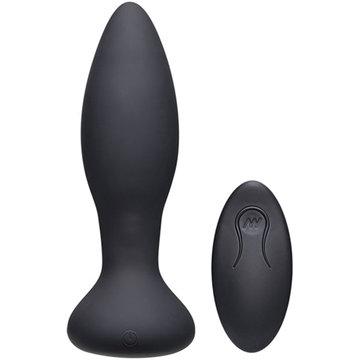 Rimmer Experienced vibrierender und rotierender Analplug - Schwarz